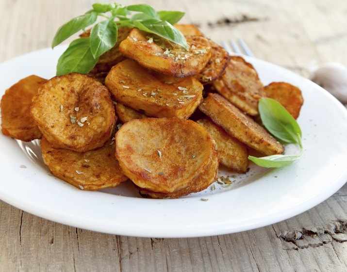 Spicy baked potatoes