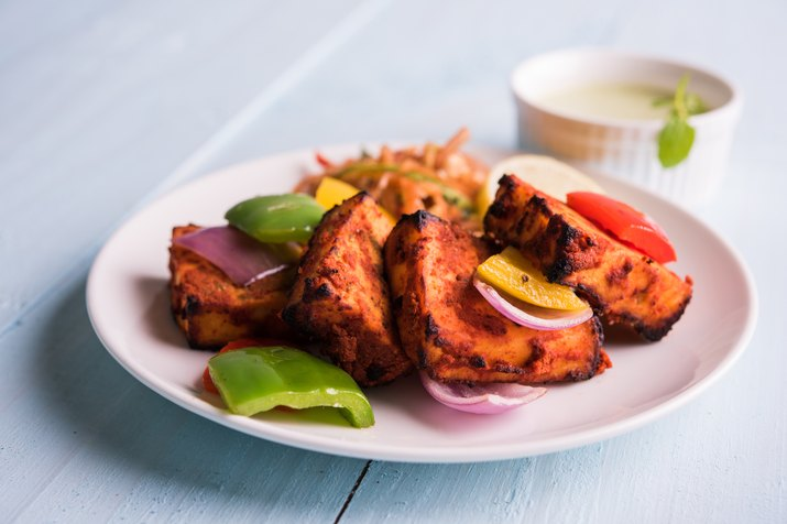 chilli paneer tikka or paneer kabab