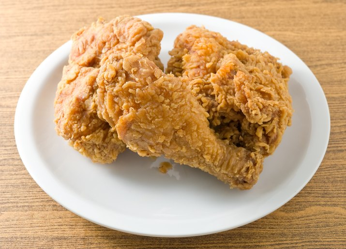 Deep Fried Chicken on A White Dish