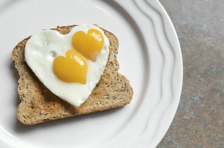 Double Heart Yolk Egg on Toast