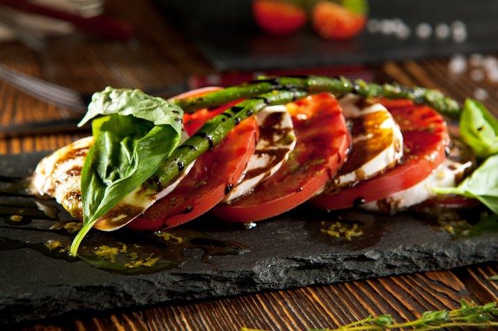 Tomato and Mozzarella Caprese