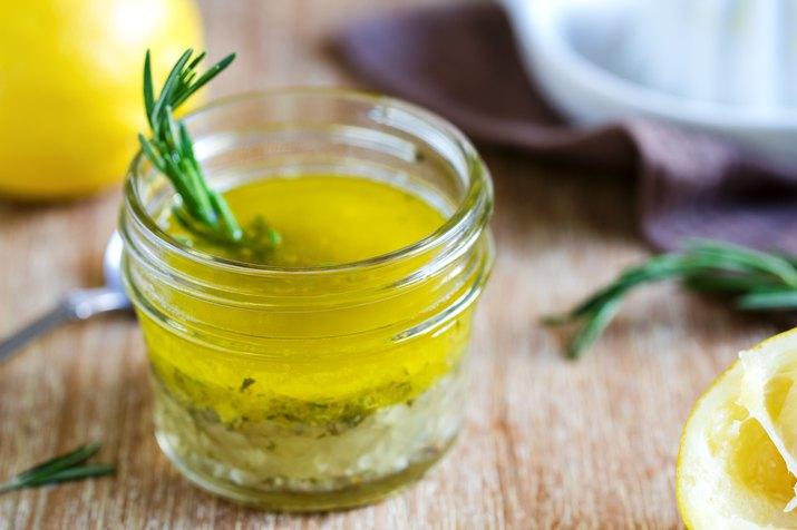 Rosemary and garlic lemon salad dressing