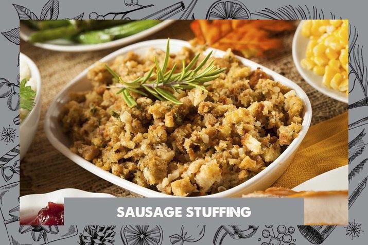 Sausage stuffing.