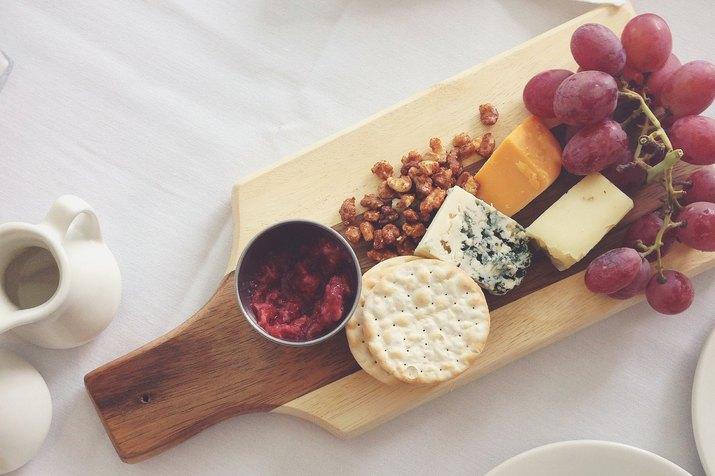 A cheese platter
