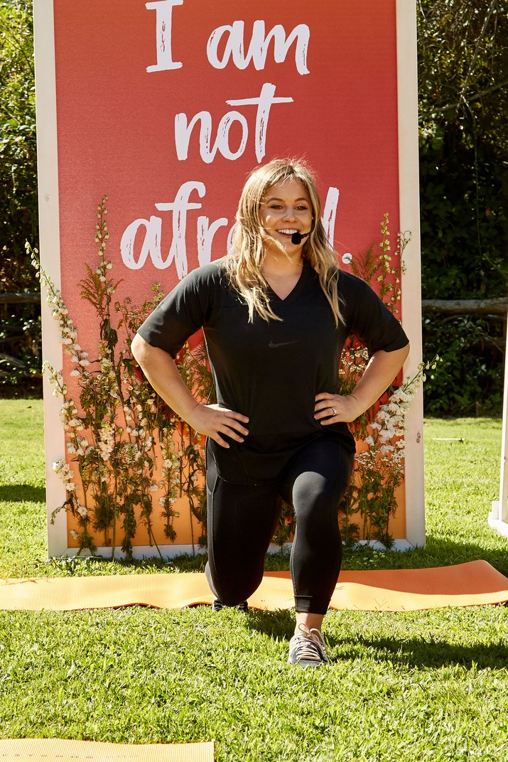 Olympian Shawn Johnson leads a workout at the LIVESTRONG.COM event at Calamigos Ranch, Malibu, CA