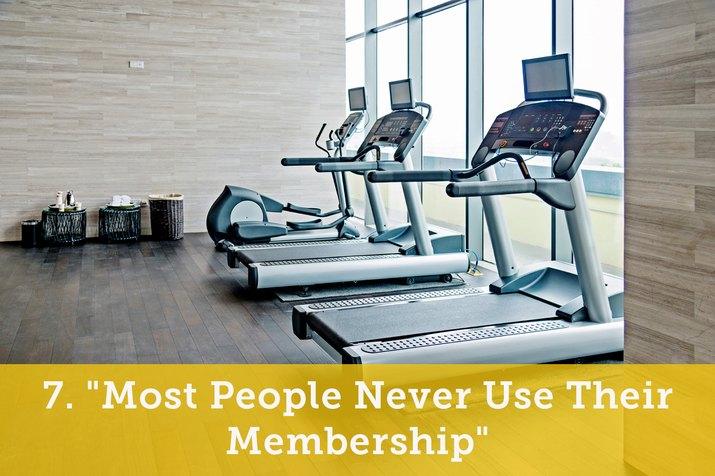 Treadmills in room.