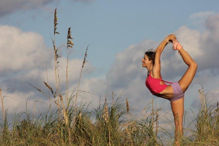Dashama Gordon in King Dancer pose.