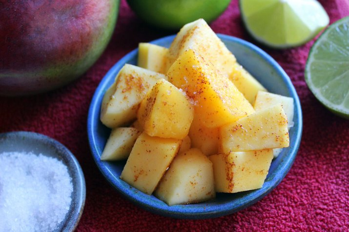Chopped Mango With Chili, Lime and Salt