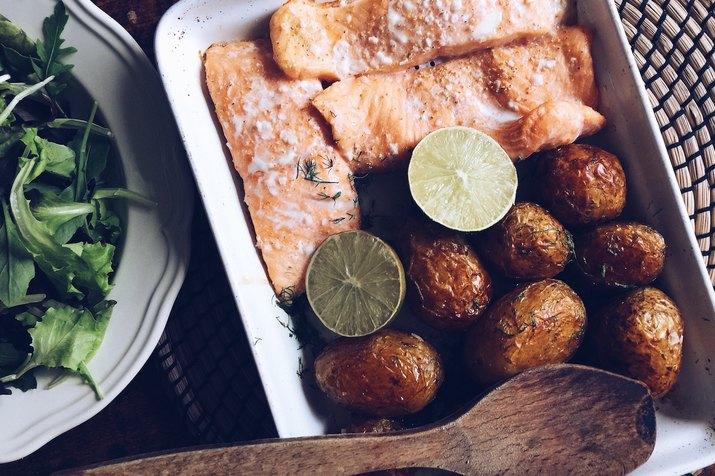 A salmon dinner