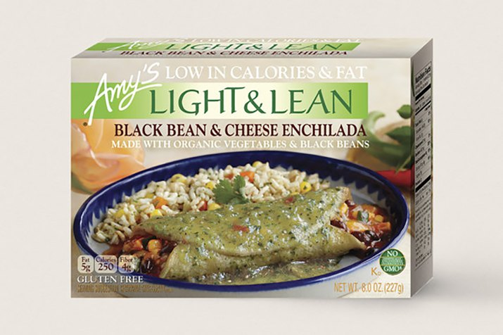 Amy's Light and Lean Black Bean and Cheese Enchilada