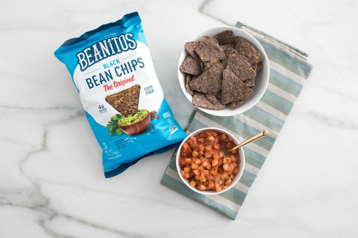 Bean chips on marble