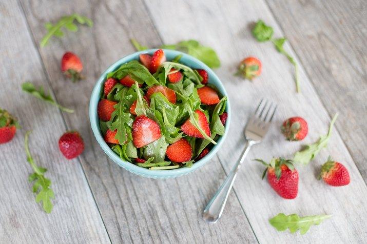 Strawberry and Baby Arugula Salad