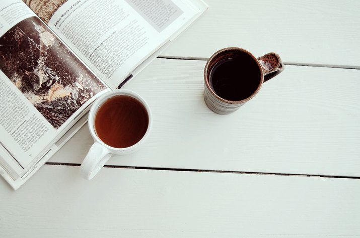 a book and tea for two