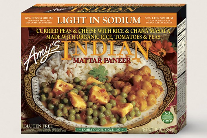 Amy's Light in Sodium Indian Mattar Paneer