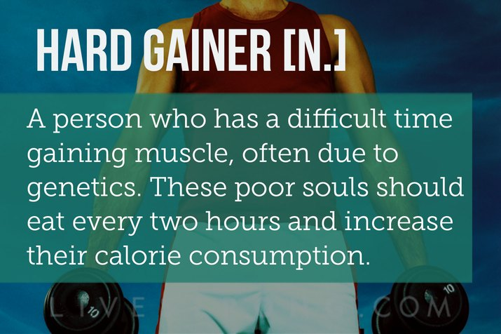 Definition of a hard gainer