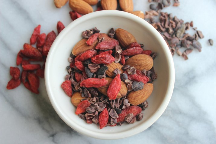 Goji Berry, Almond and Cacao Trail Mix