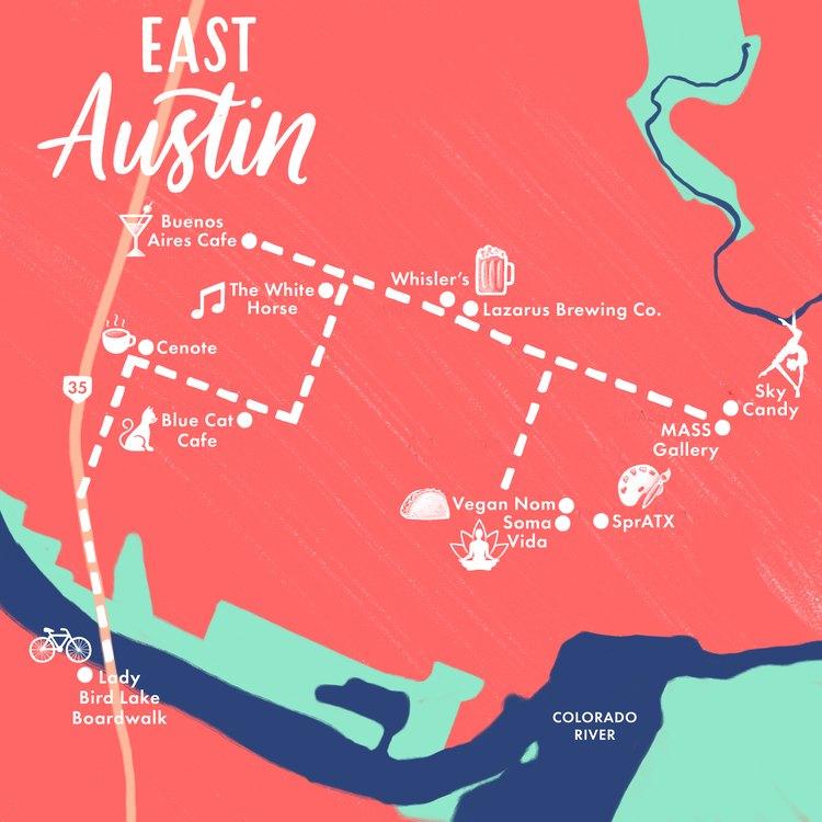 East Austin map