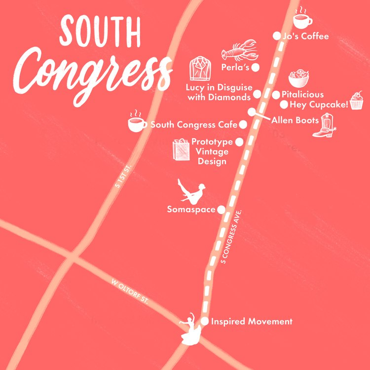 South Congress map