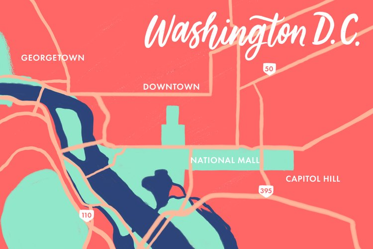 Washington, D.C. map