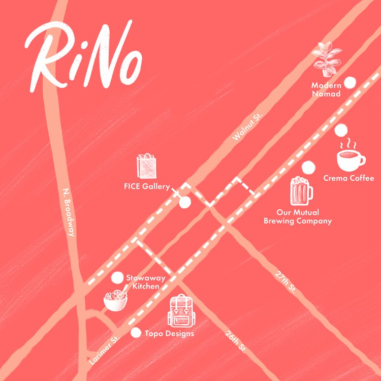 RiNo map