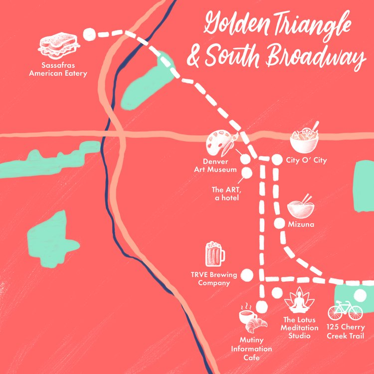 Golden Triangle and South Broadway map