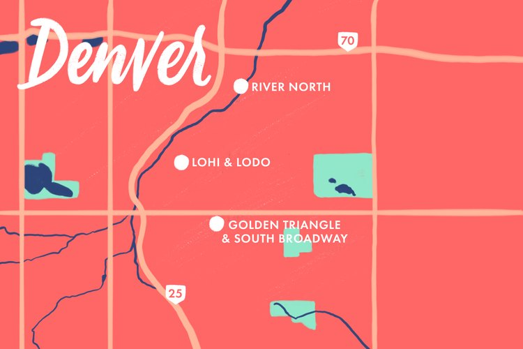 Denver walking map