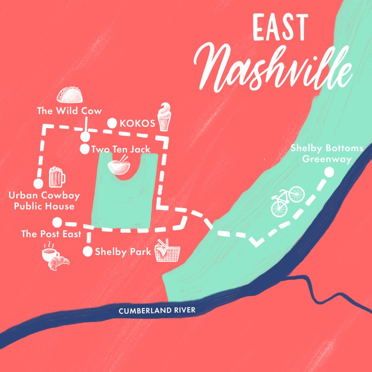 East Nashville map