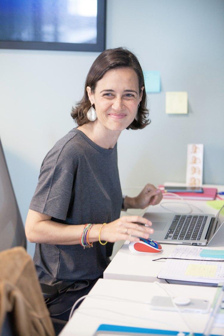 julie campistron at her desk