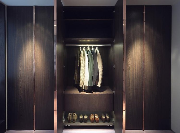 Penthouse Apartment, London, 2011, Dan Brill Architects, Wardrobe