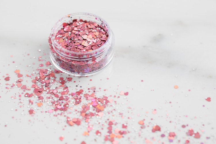container of glitter