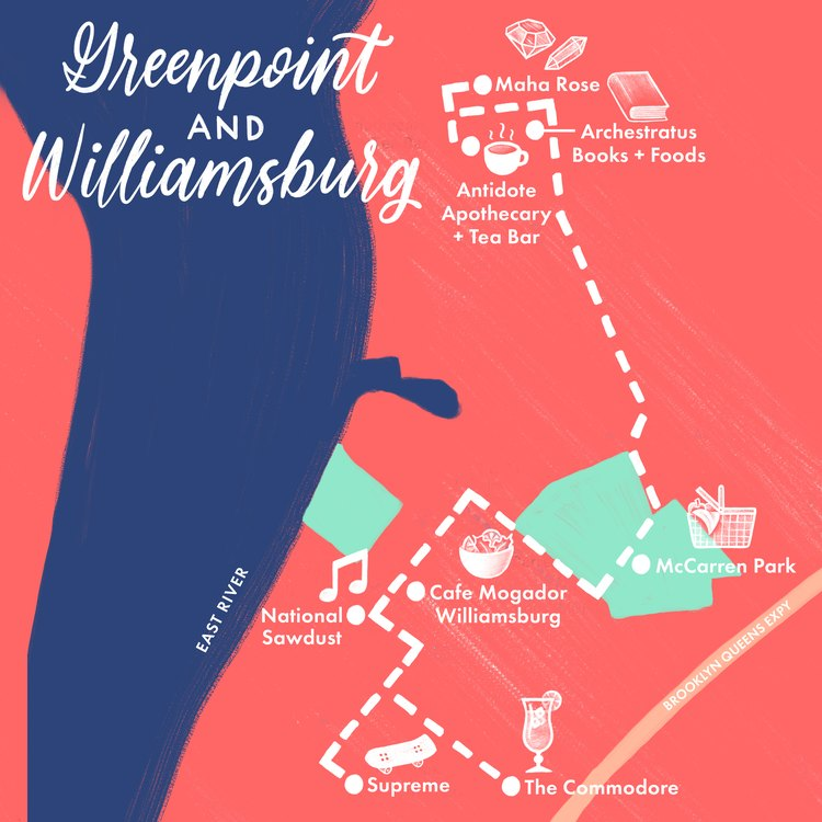 Greenpoint and Williamsburg map