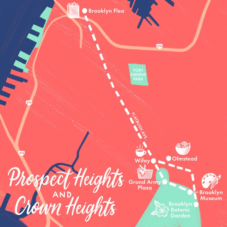 Prospect Heights and Crown Heights map