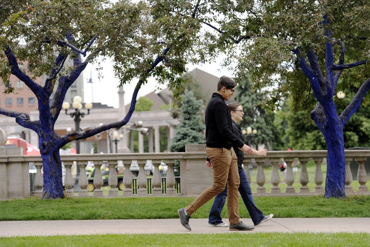 Couple in Denver park