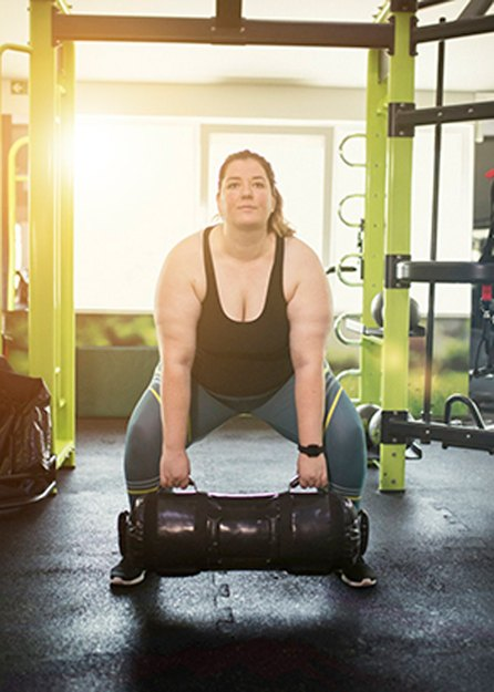athlete using exercise modifications to tailor workout to individual needs