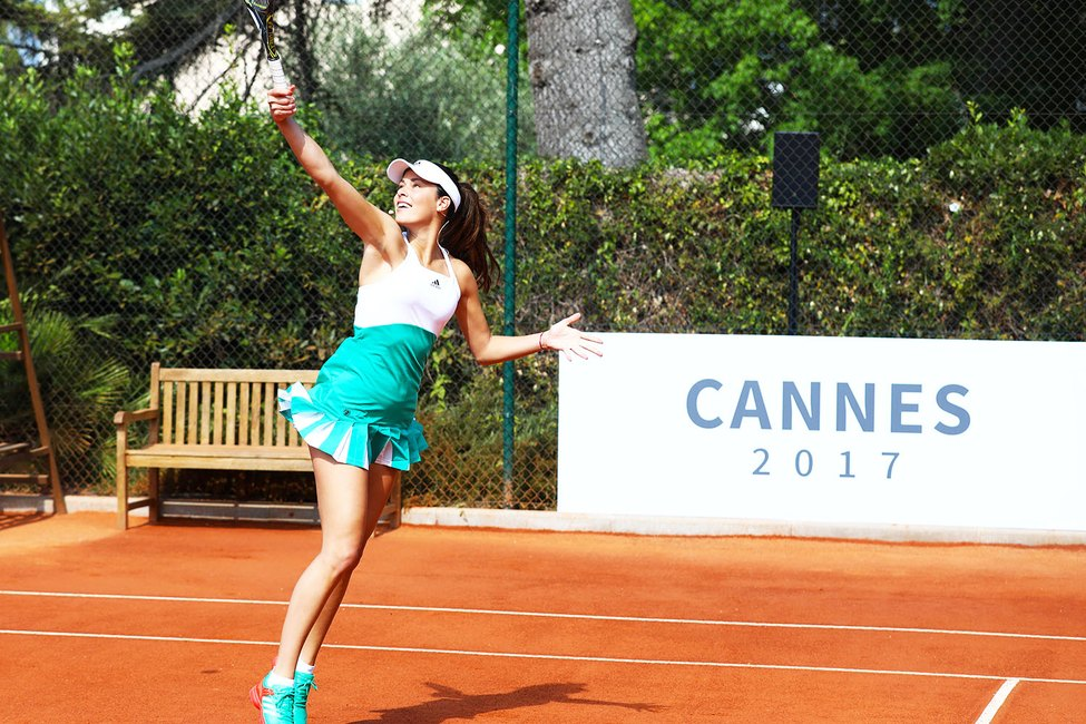 Ana Ivanovic on the court in Cannes, France