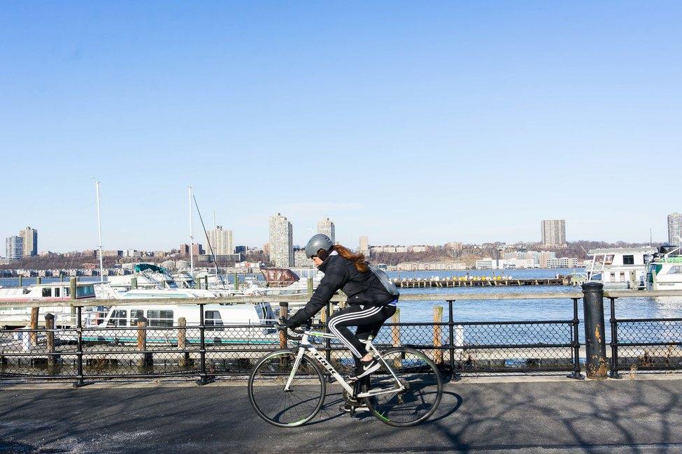 Biking in Riverside Park